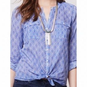 Anthropologie Holding Horses Zellige Button Down 4